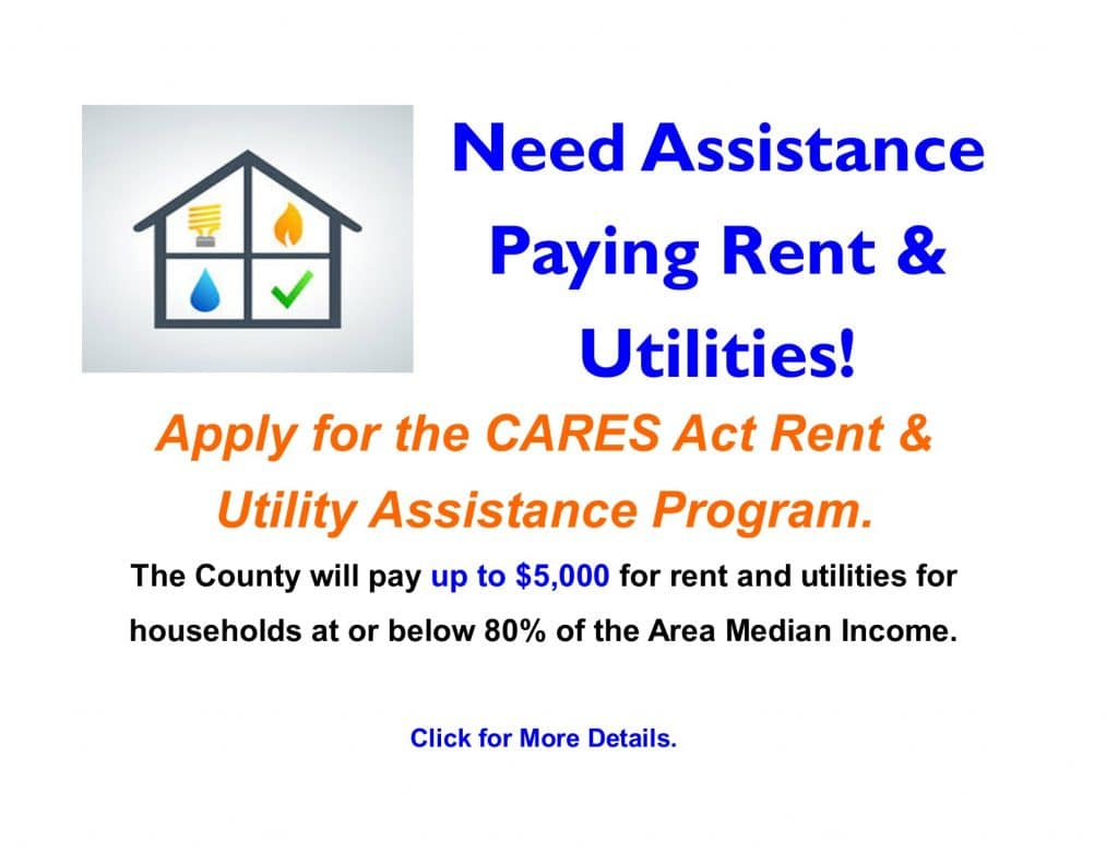 Utility and Rent Assistance Slider